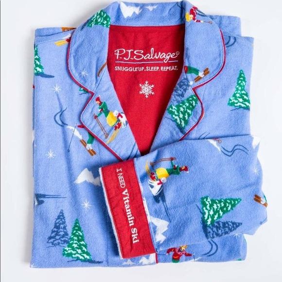 PJ Salvage Printed Flannel Pajama Set Men - M